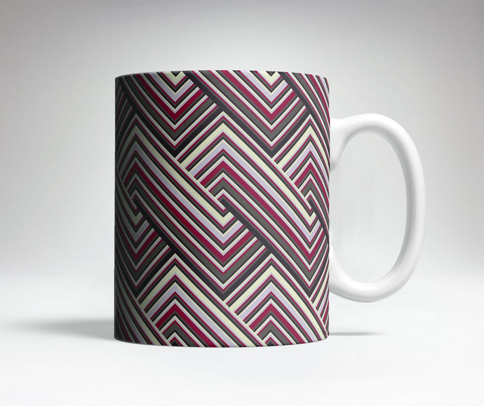 Interlocking Lines Optical Illusion Mug