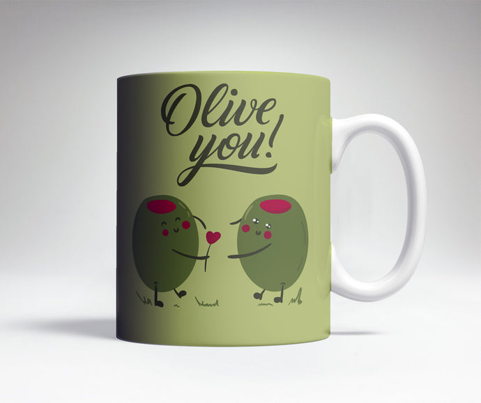 Olive You Cute Coffee Mug