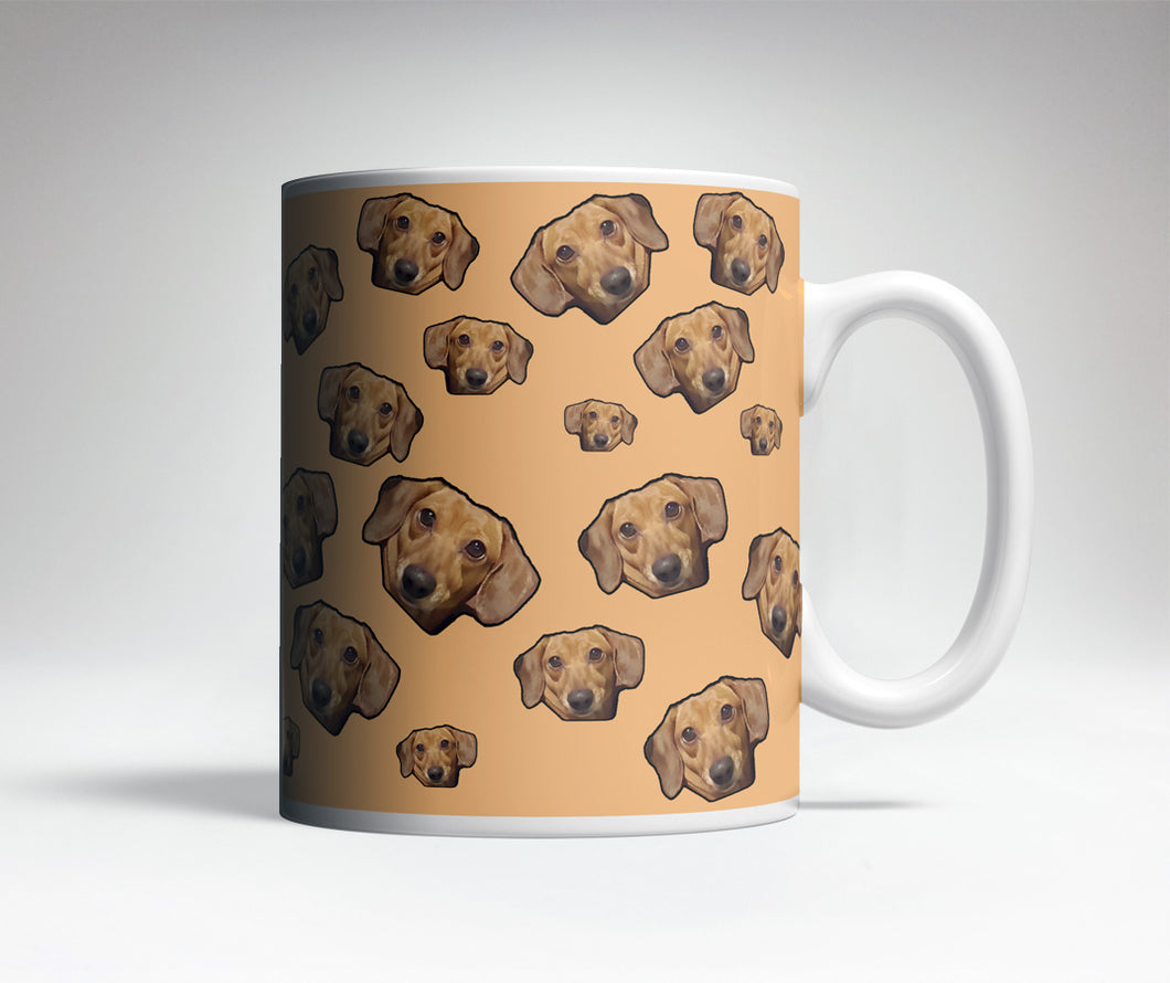 Custom Pet Pattern Trick Mug