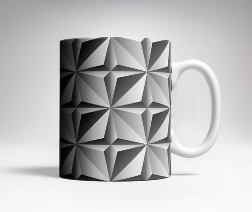 Prism Pattern Optical Illusion Mug