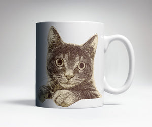 Staring Cat Cute Coffee Mug