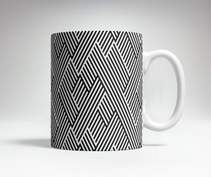 Zig Zag Optical Illusion Mug