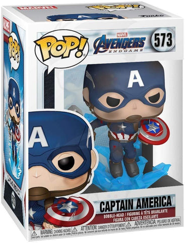 POP! Marvel: Avengers Endgame - Captain America w/Broken Shield & Mjolnir