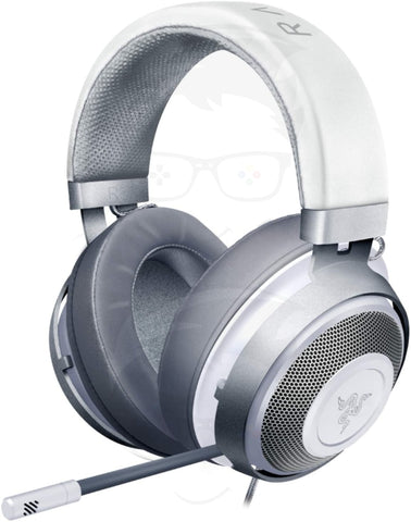 Razer Kraken Gaming Headset: Lightweight Aluminum Frame - Retractable Noise Isolating Microphone - For PC, PS4, Nintendo Switch - 3.5 mm Headphone Jack - Mercury White