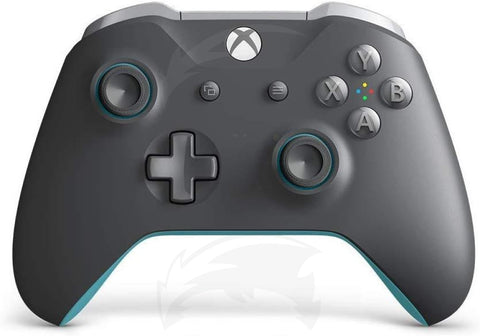 Microsoft Official Xbox Grey and Blue Wireless Controller - Xbox One