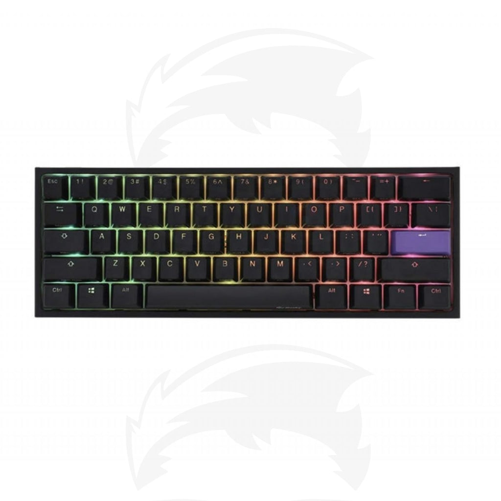 Ducky One 2 Mini RGB (Brown Cherry MX) Black RGB Mechanical Gaming Keyboard