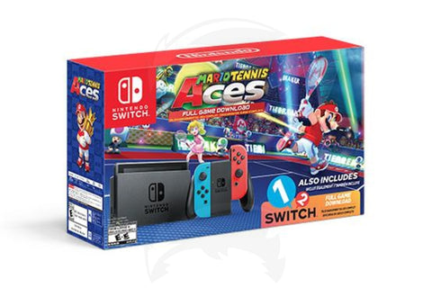 Nintendo Switch with Mario Tennis Aces and 1-2