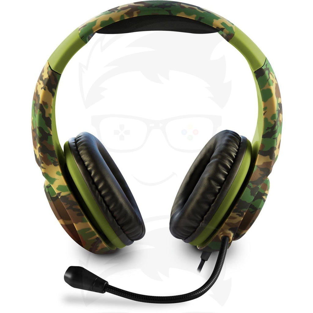 4Gamers PRO4-70 Green Camo Wired Stereo Gaming Headset PS4
