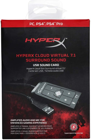 HyperX HX-USCCPSS-BK Cloud Virtual 7.1 Surround USB Sound Card
