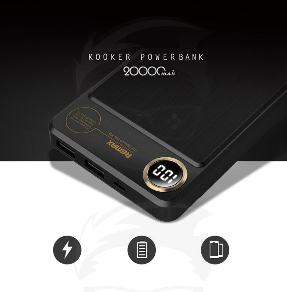Remax kooker power bank 20000mah