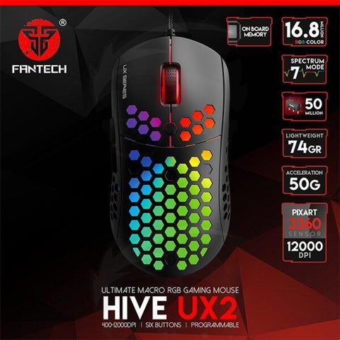 FANTECH HIVE UX2 GAMING MOUSE 74G