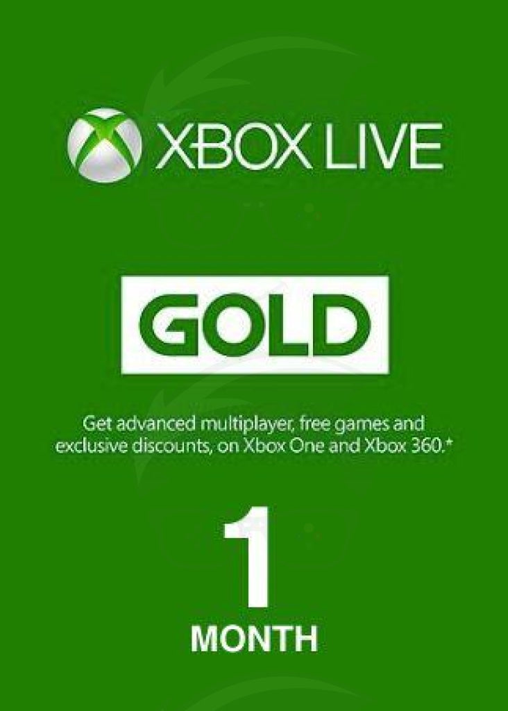 Xbox Live 1 Month Gold Card