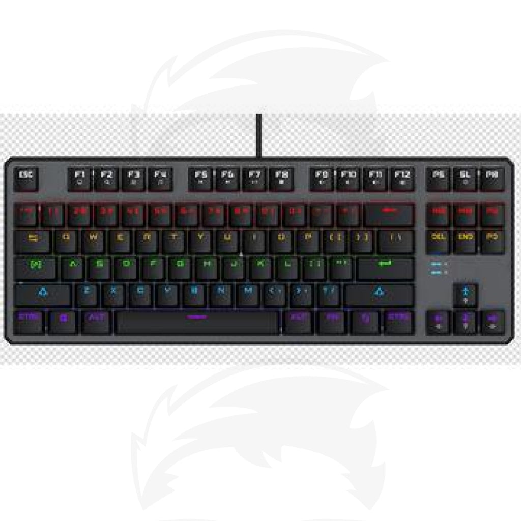 87 key cool backlit gaming mechanical keyboard