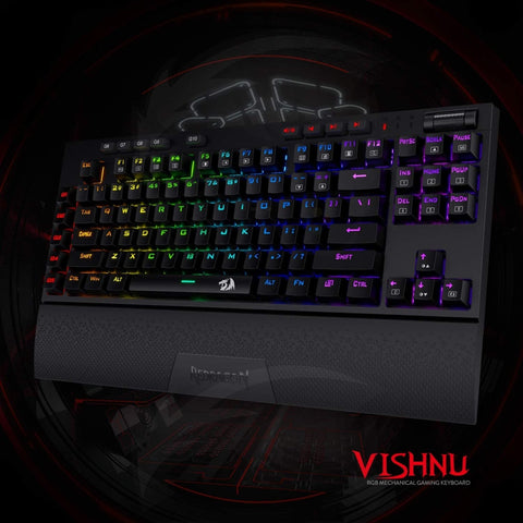Redragon K596 Vishnu 2.4G Wireless/Wired RGB Mechanical Gaming Keyboard