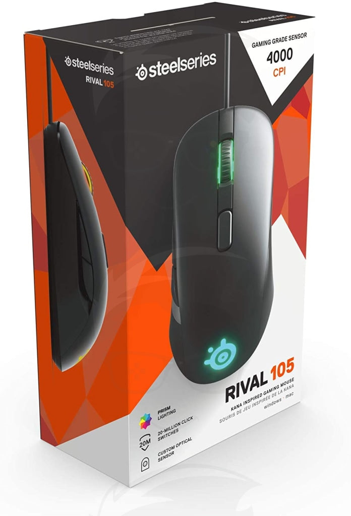 SteelSeries Rival 105 Optical Gaming Mouse (Black)