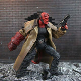 "Hellboy Mezco HB 7"" Action Figure Smoking Ver. Series 2 Collection"