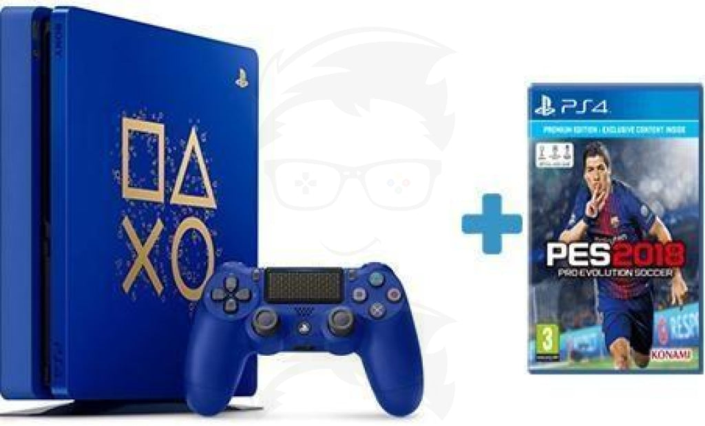 Playstation 4 500GB Days of Play Limited Edition with (PES 2018)