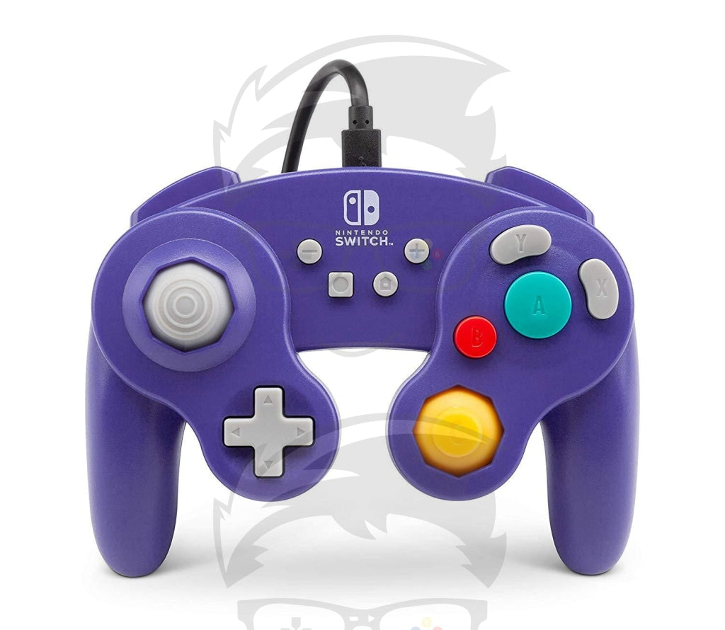 GameCube Style: Purple Wired Controller - Switch