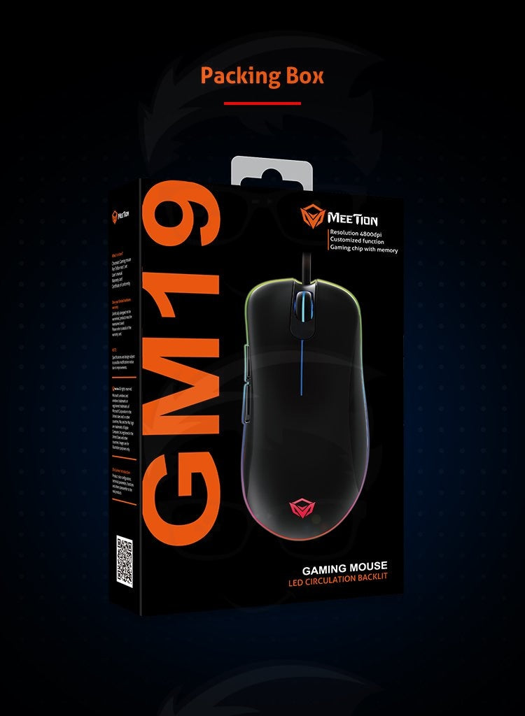 RGB Light Gaming Mouse MT-GM19