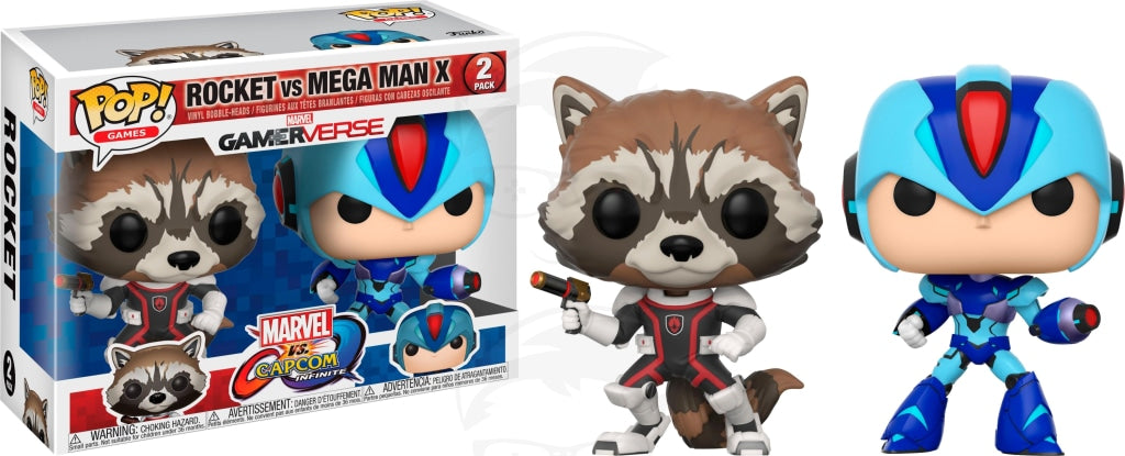 POP! Games: Marvel vs Capcon - Rocket vs MegaMan
