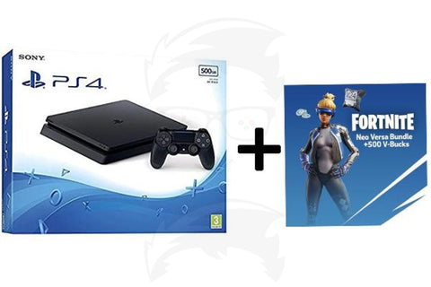 PlayStation 4 500GB + Fortnite Neo Versa Bundle 500 V-Bucks