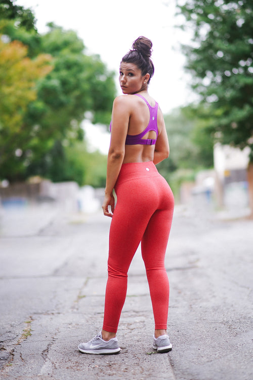 The Trulove Leggings - Coral