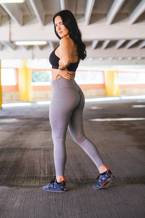 PeachyBottom Leggings - Marled Grey