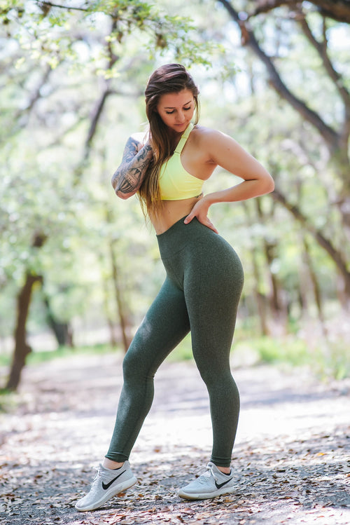 The Trulove Leggings - Evergreen
