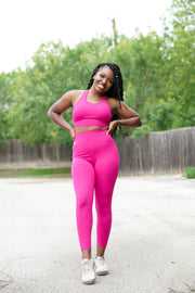 Oxygen Legging - Pink Sea