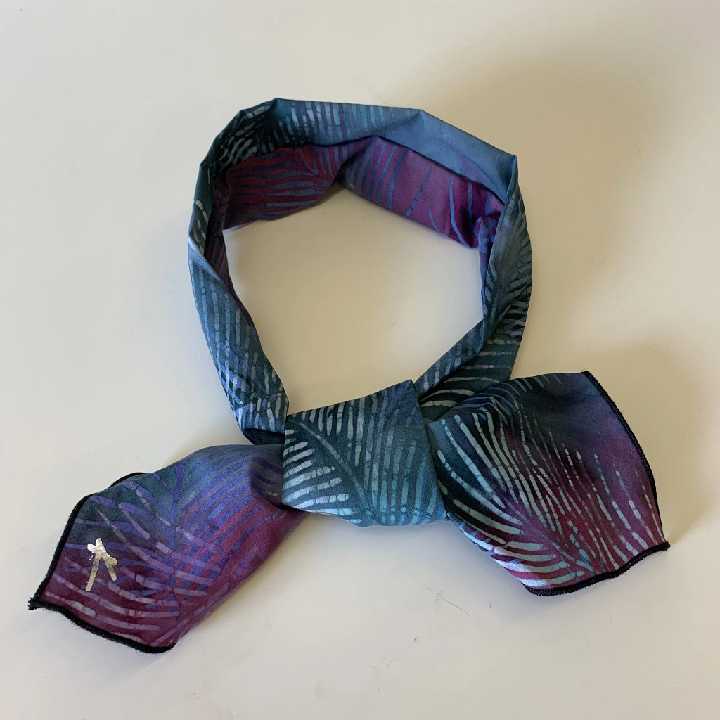 BATIK - BLUE/PURPLE FRONDS