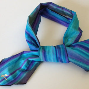 TIE DYE - PURPLE/BLUE/AQUA BLEND