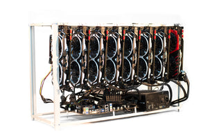 Mining rig frame for up to 8 GPUs