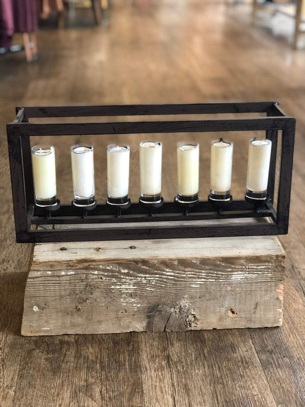 Mixture Metal 7- Candle Holder