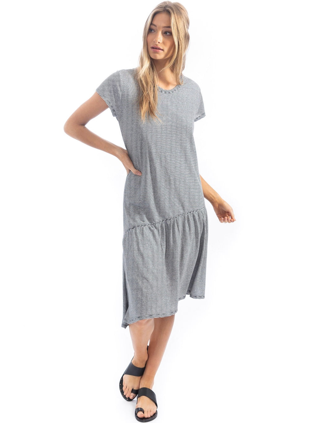 Mini Stripe Slant T-Dress