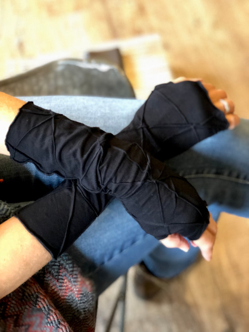 Textured Jersey Fingerless gloves