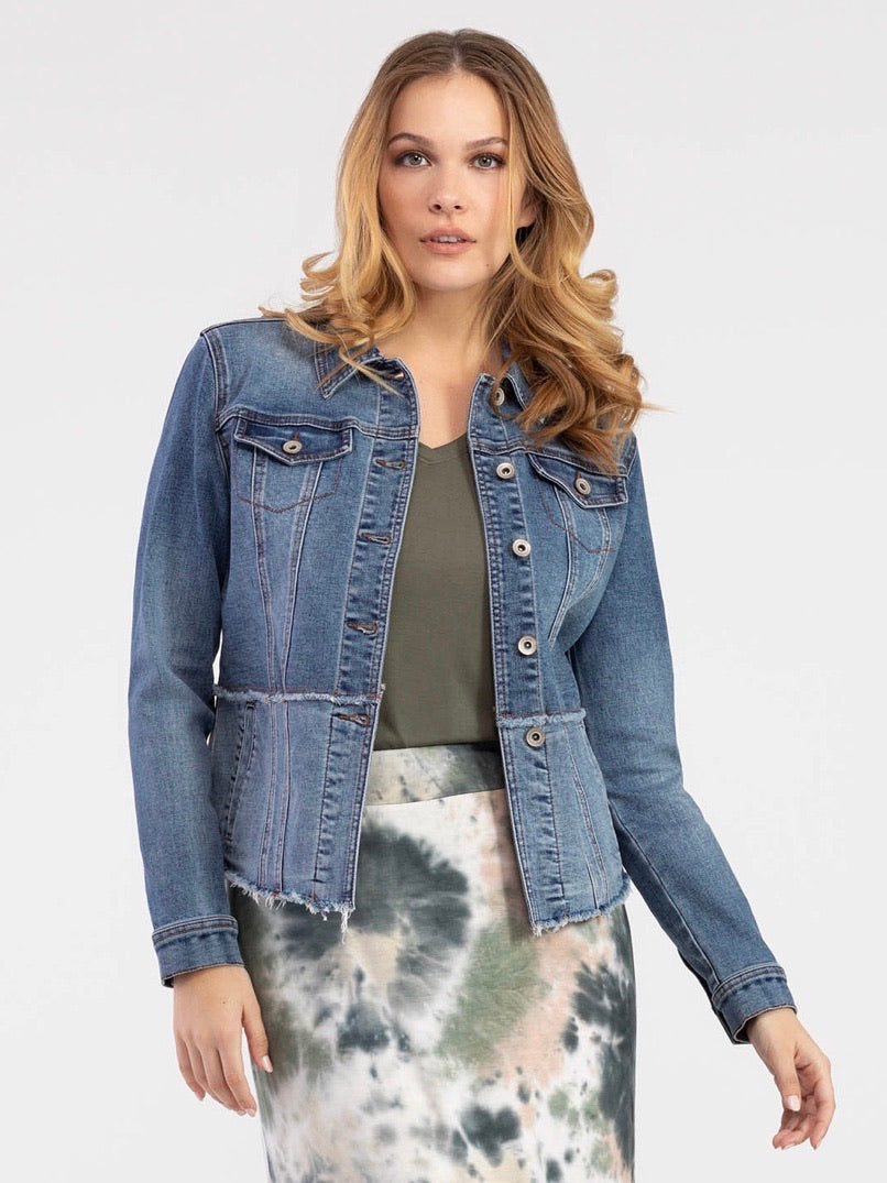 Peplum Denim Jacket