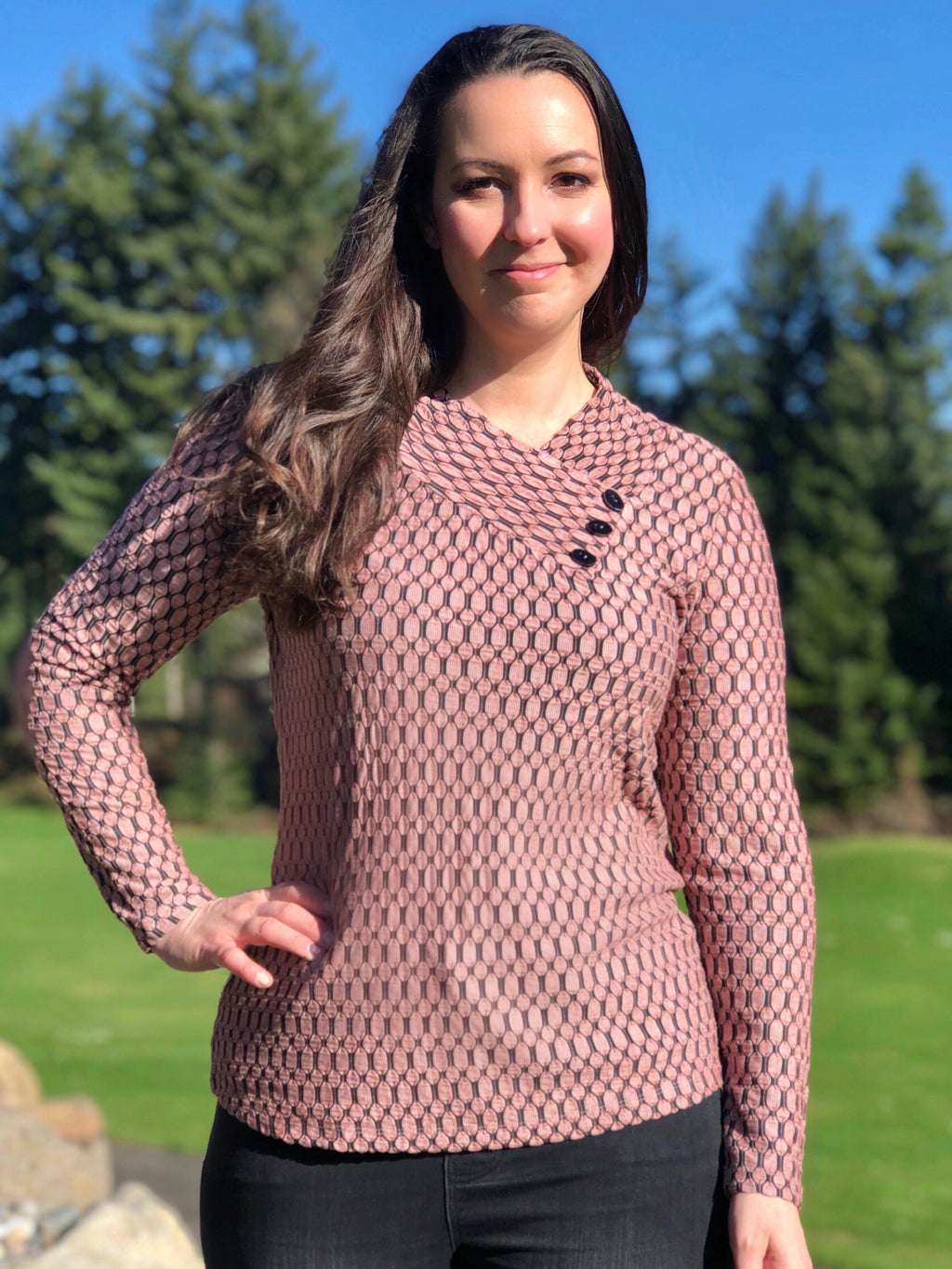 Blush Crossover Tunic