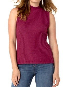 Mock Neck Sleeveless Knit Top
