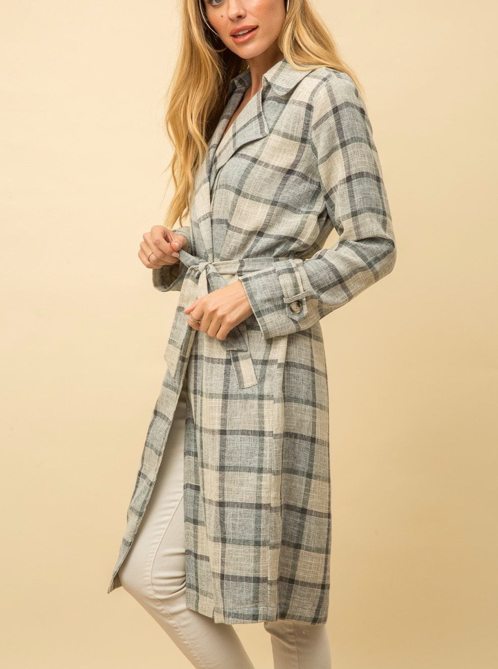 Plaid  Wrap Duster