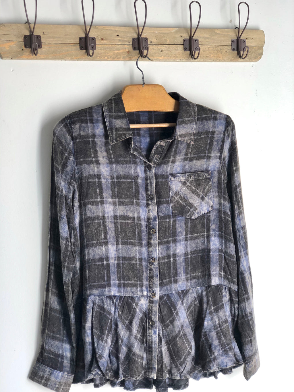 Washed Plaid Shirt