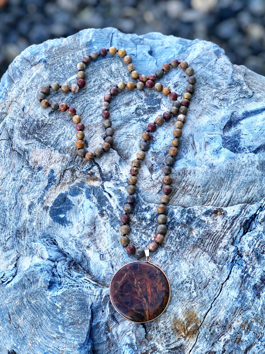 Autumn Ocean Jasper Necklace