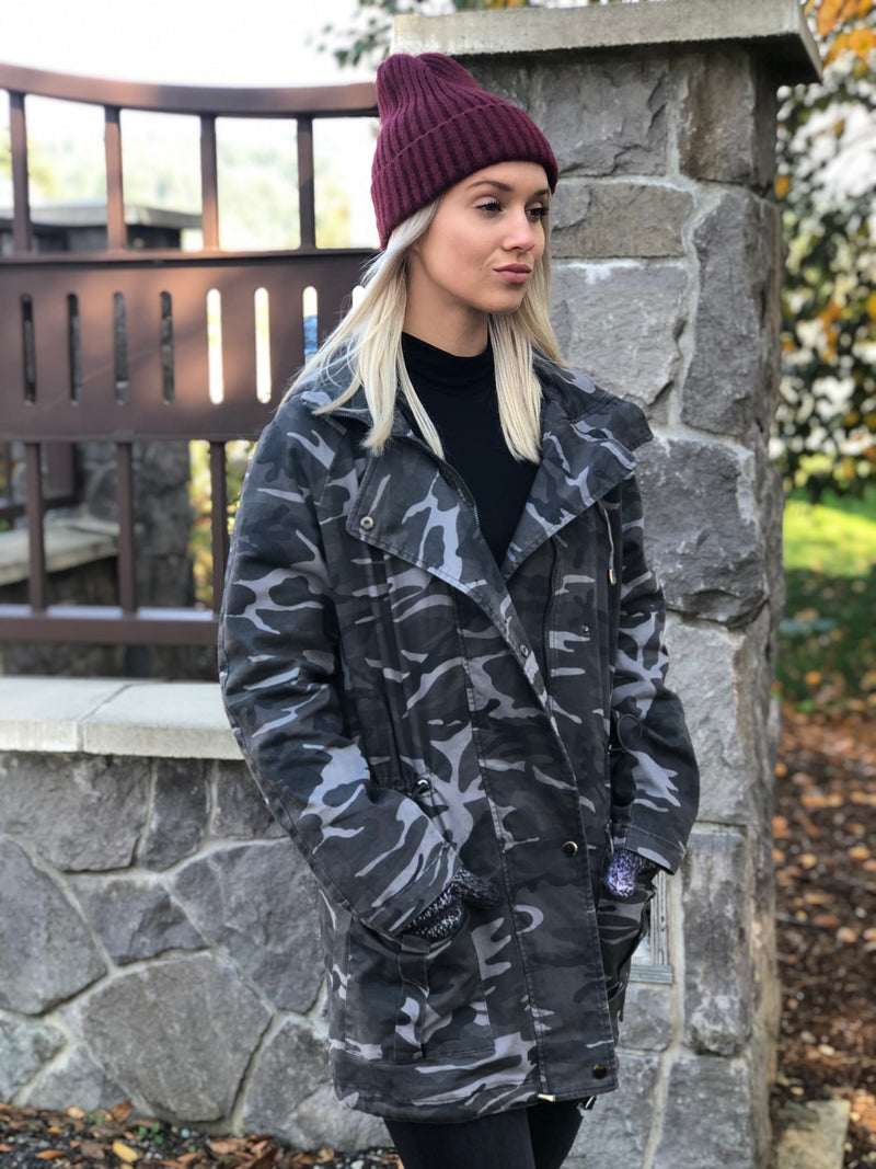 Camo Print Annorak Jacket