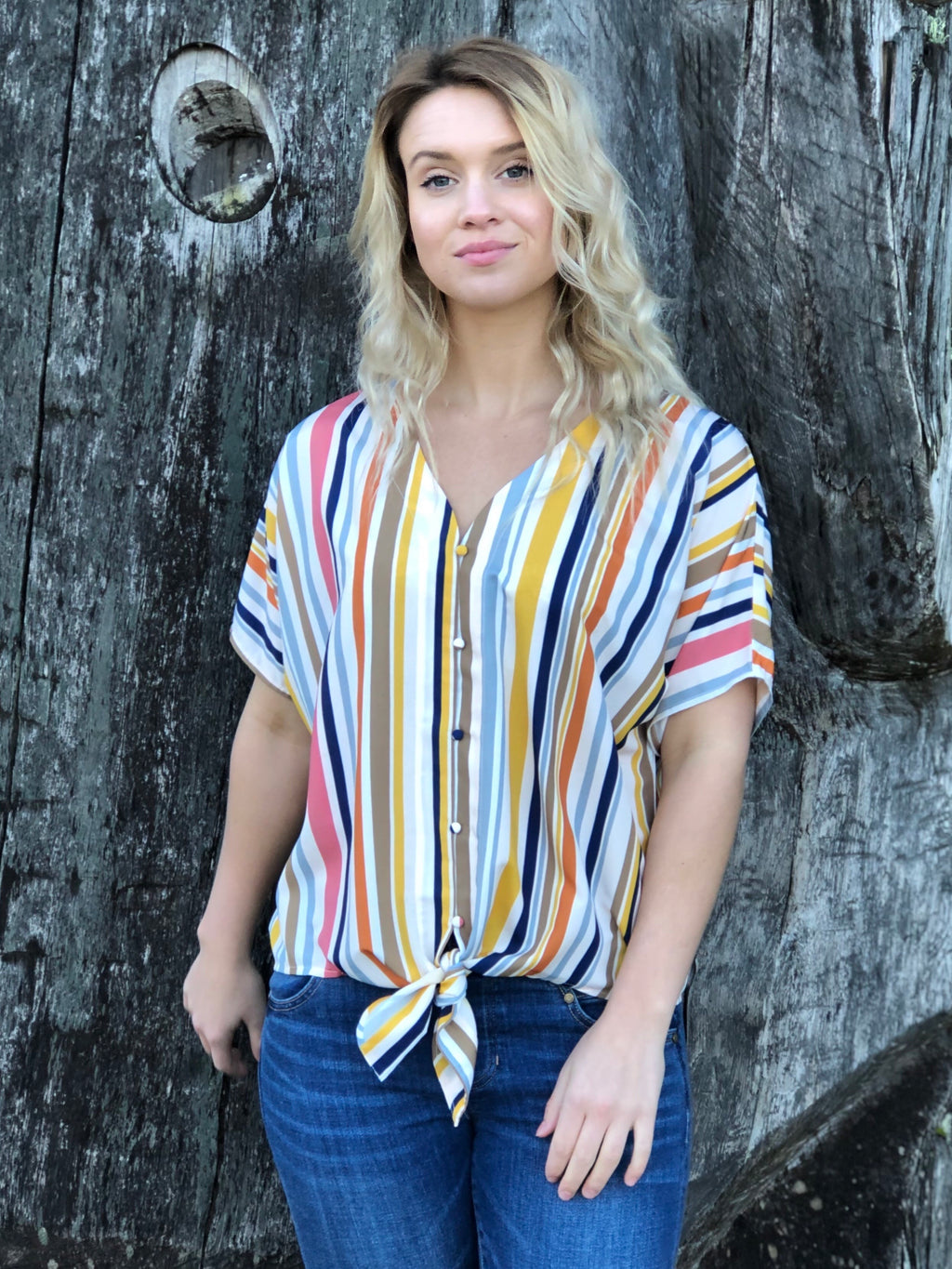 Multi Striped Blouse