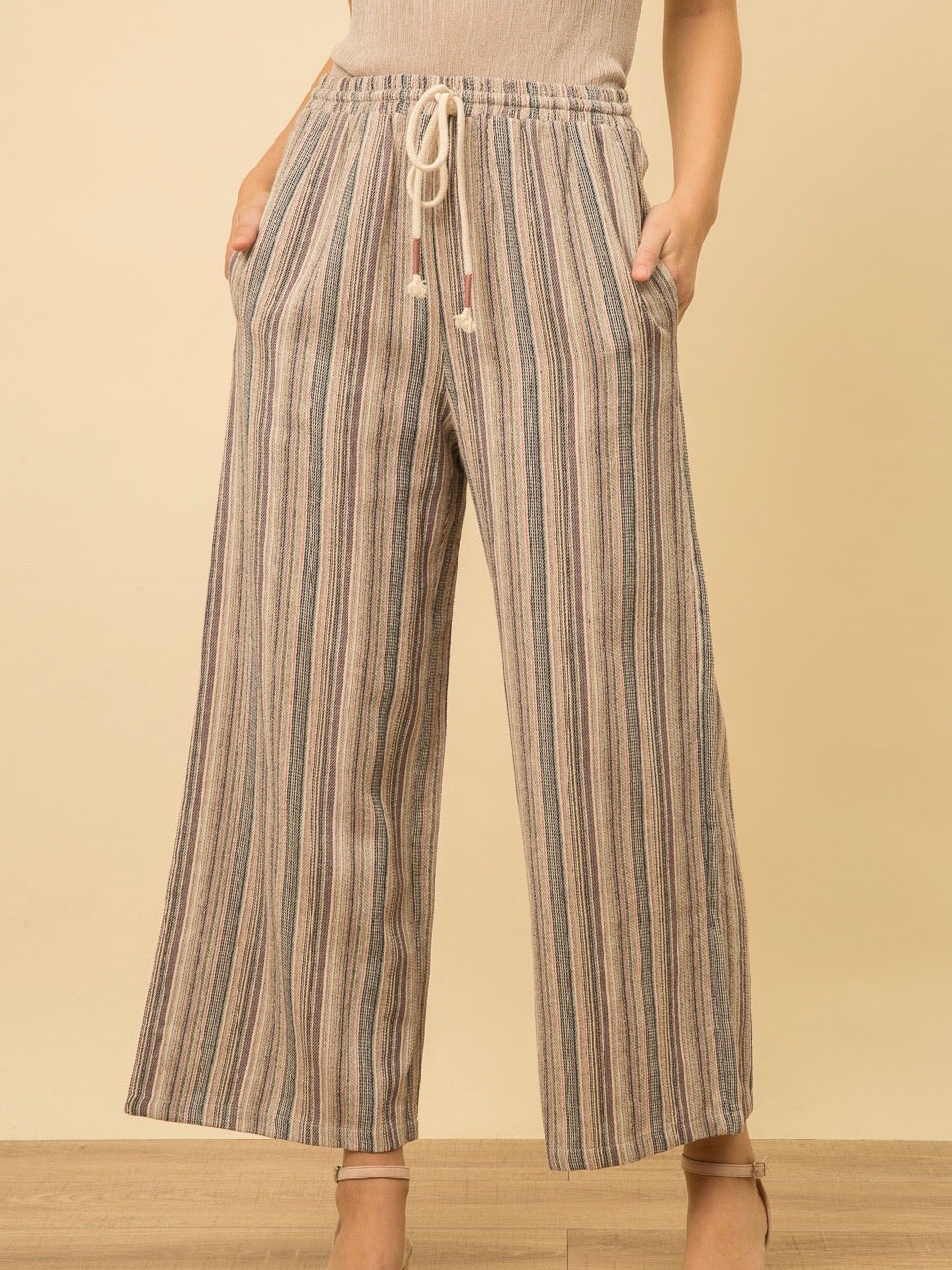 Yarn Dyed Stripe Pant