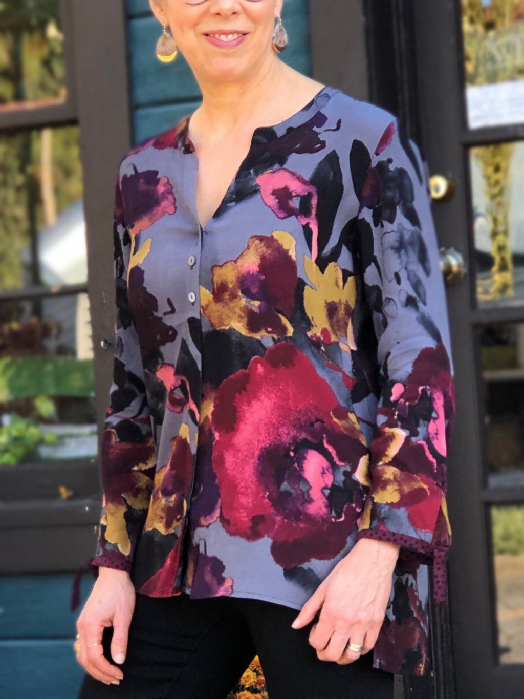 Autumn Floral Blouse