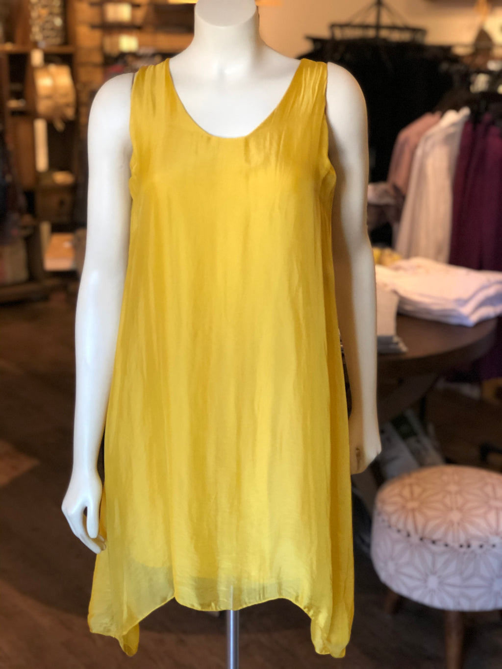 Sleeveless Yellow Tunic Top