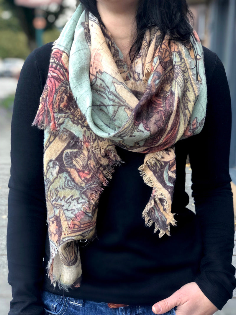 Magel Wool Map Scarf