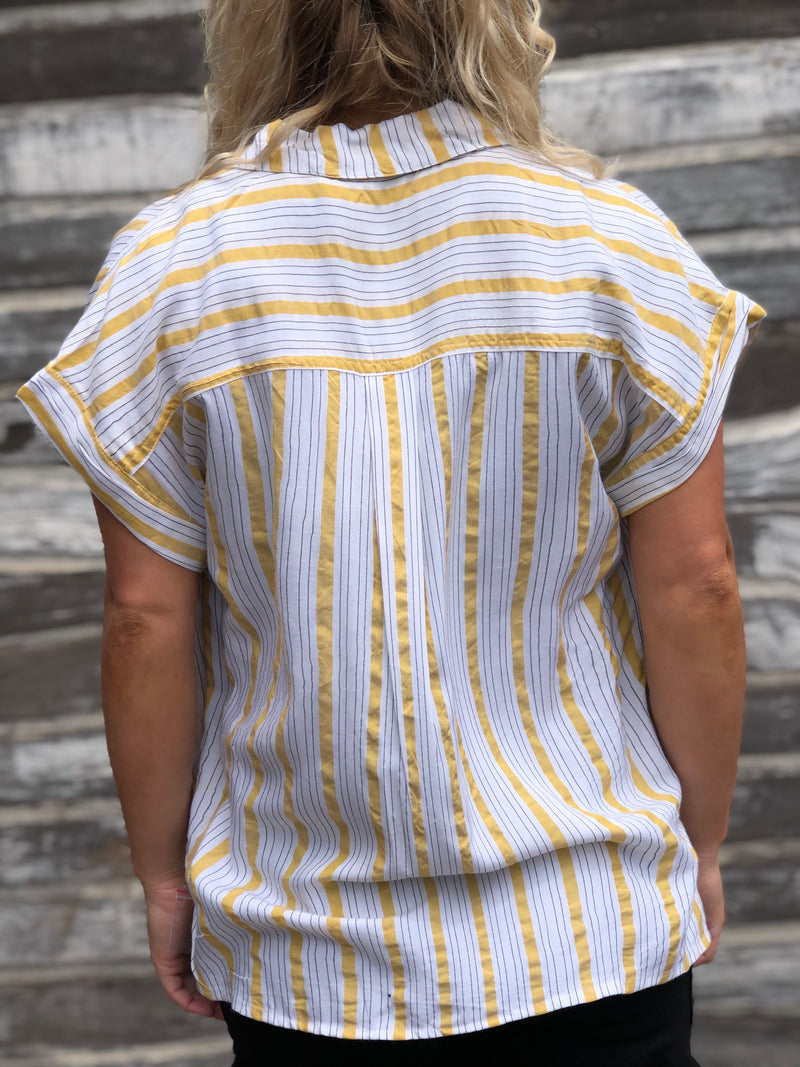 Sunny-Side Striped Shirt