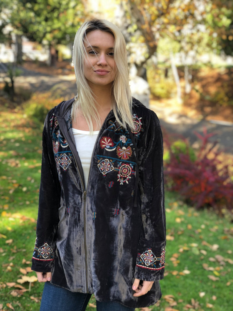 Embroidered Greer Jacket by Caite