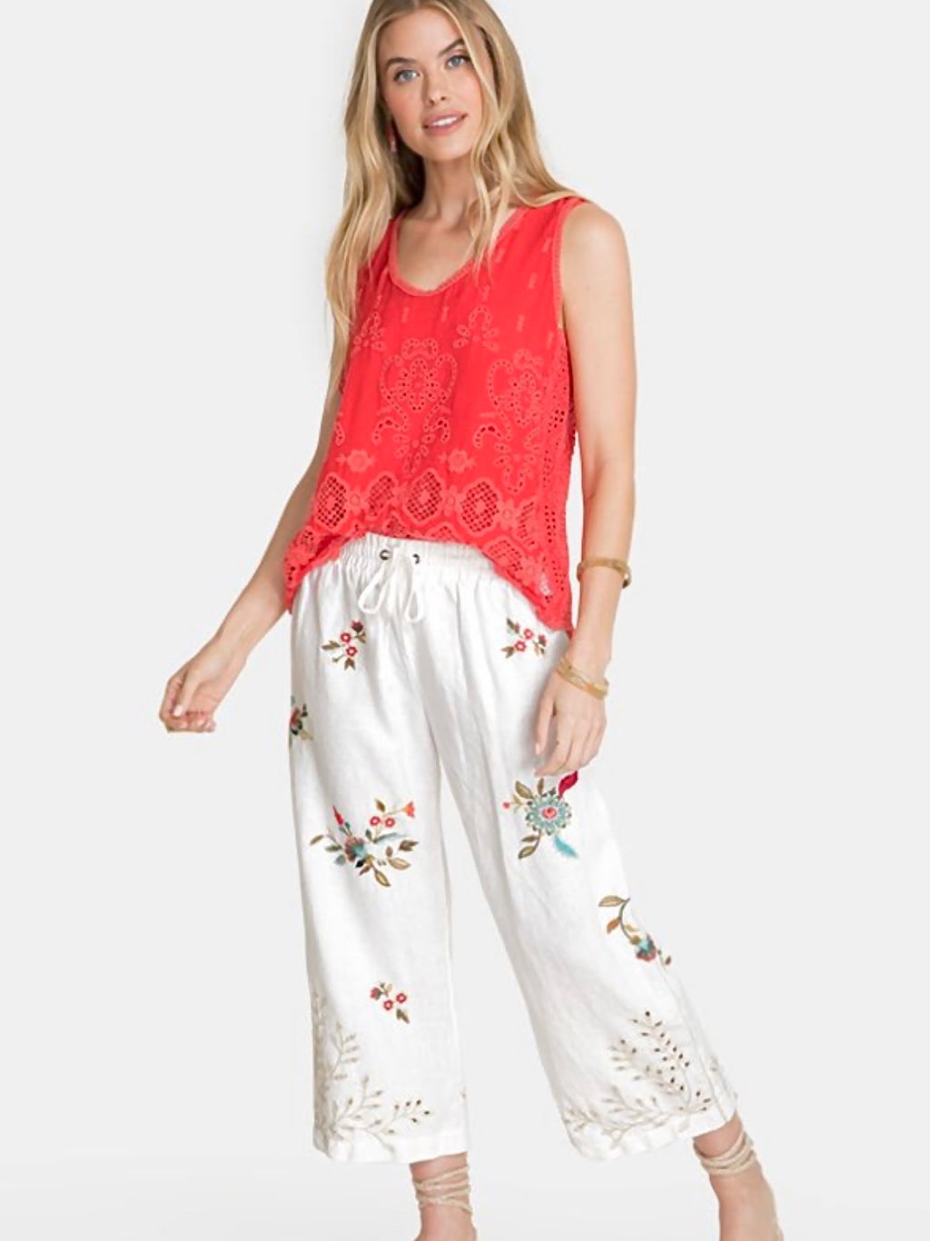 Johnny Was Lidia Cropped Pant